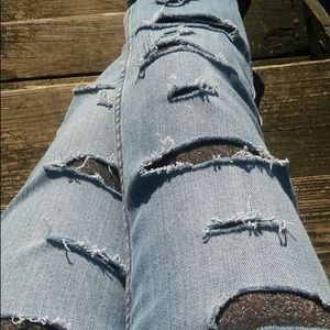 Cut up jeans I designed to wear with leggings